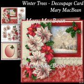 Winter Trees Decoupage Card