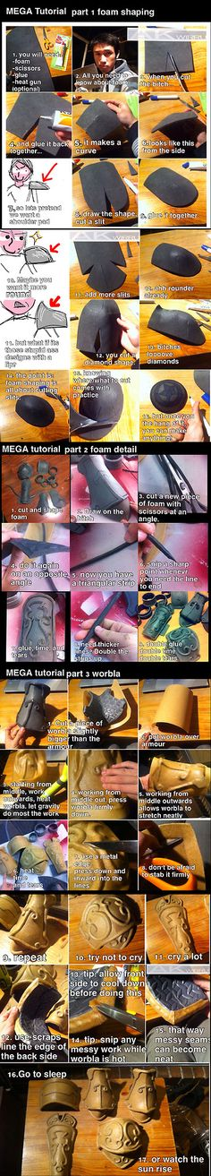 Foam and Worbla armour MEGA TUTORIAL by AmenoKitarou - if I ever need to make armor for cosplay this will be good help ; Cosplay Diy, Halloween Cosplay, Best Cosplay, Cosplay Wings, Loki Cosplay, Cosplay Dress, Deviantart Cosplay, Costume Armour, Prop Making