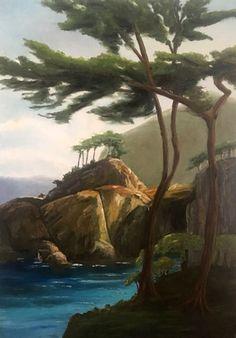 Olajfestő tanfolyamon készült festmény a sziklák hihetetlen nyugalmat árasztanak. Painting, Art, Painting Art, Paintings, Kunst, Paint, Draw, Art Education, Artworks
