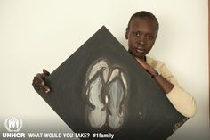 Supermodel- Alek Wek: When I fled my home, I walked into the unknown; these slippers carried me through. They kept falling apart, and I kept tying them back together. When they were no longer useable, I would get another pair exactly the same. In Sudan, they were a part of me – a security blanket and a symbol of my journey   - Alek Wek  from South Sudan/ USA     - Visit 1family: http://www.unhcr.org/1family