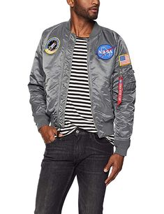 0fcb196c57a5 Alpha Industries Men s L-2b NASA Bomber Flight Jacket Review