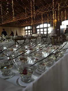 Drum Wedding | Frazier Pavilion | Top Tier Catering | Ceiling decor by Top Tier | Specialty Welcome Drink