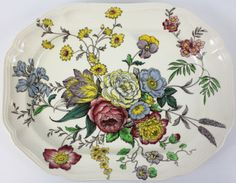 Beautiful-Spode-Copeland-Gainsborough-14-3-4-Oval-Serving-Platter-Floral-Dish