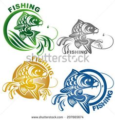 Carp fishing logo