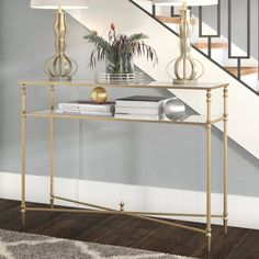 Willa Arlo Interiors Caila Console Table - All About Decoration Entryway Wall, Entryway Tables, Console Tables, Living Room Sofa, Living Room Furniture, Coffee Table With Storage, Glass Shelves, Wall Shelves, Room Decor