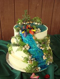 3 views of the kayak cake including detail of the top of the cake Beautiful Cakes, Amazing Cakes, Kayak Cake, Waterfall Cake, Dad Cake, Crazy Cakes, Fancy Cakes, Beach Cakes, Cake Shapes