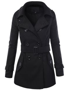 This double breasted peacoat is here to keep you warm and stylish throughout the…