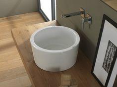 Lavabo da appoggio rotondo in ceramica Collezione Bucket by Scarabeo Ceramiche   design Giovanna Talocci