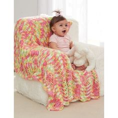 Brighten up any little girl's nursery with this simple and sweet crochet ripple blanket. Free Pattern