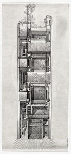 [Modulightor, Inc., and Rudolph Foundation, 246 East 58th Street, New York City. 1989, Perspective. Rendering]
