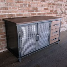 Ellis Console with Drawers | Vintage Industrial Furniture: