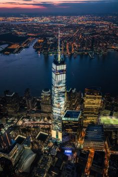 Circling above One World Trade Center,NYC New York Wallpaper, City Wallpaper, New York One, New York City, World Trade Center Nyc, Night Scenery, New York Pictures, New York Photographers, Manhattan New York