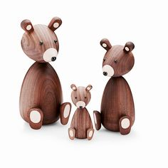Looking for the perfect nursery gift! Designstuff offers a wide range of nursery gift ideas, including the keepsake Mama Bear and Baby Bear in American walnut by Lucie Kaas, Denmark. The Bear Family, Objet Deco Design, Origami, American Walnut, Danish Design, Modern Design, Walnut Wood, Decoration, Wooden Toys