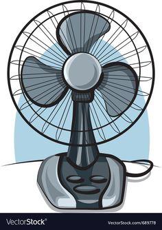 Table fan ventilator vector image on VectorStock Free Vector Images, Vector Free, Scrapbook Recipe Book, Cocktails Vector, Smile Wallpaper, Barbie Paper Dolls, Fish Vector, Seascape Art, Cool Stickers