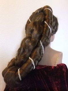 Fancy Dress Headwear – Sissi Wig, Sisi Wig, Empress of Austria Wig – a unique product by Zopfkronenliesl on DaWanda