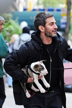 Marc Jacobs and his Bull Terrier Neville ...just how cute can we get here, hmmm?