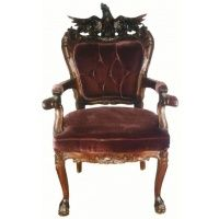 Exceptional Antique Carved Eagle Furniture | Indonesian Furniture EAGLE CHAIR CARVER  (MAHOGANY)
