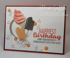 Ice Cream Birthday Pop up card | Dawn's Stamping Thoughts | Bloglovin'
