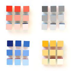 Gradient color block cubes.  I think I saw a set of nine plain cubes at Hobby Lobby for like $2!  Alternative to Montessori color tablets?