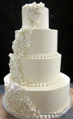 4 Tier Wedding Cake 4 Tier Wedding Cake, Wedding Cake Bakery, Fall Wedding, Our Wedding, Wedding Ideas, Mini Cupcakes, Cupcake Cakes, Cake Images, Cake Pictures