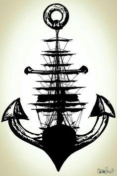Segelschiff Anker Poster Print / / nautische Wand von Clarafornia Sailing Ship Anchor Poster Print // Nautical Wall by Clarafornia Tattoo Drawings, Body Art Tattoos, Sleeve Tattoos, Art Drawings, Ship Tattoos, Rock Tattoo, 3d Tattoos, Diy Tattoo, Arrow Tattoos