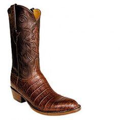Rios Of Mercedes Chocolate Pirarucu Handmade Cowboy Boots ...