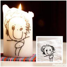 """(@lustattpyssla) Tips på roligt pyssel att göra med barn! Att ha själv eller ge bort i present. Låt barnet rita på…"""""""