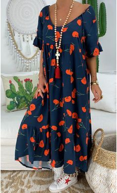trajes | Navy Dress Outfits, Boho Outfits, Casual Outfits, Spring Fashion Outfits, Boho Fashion, Style Fashion, Winter Outfits, Fashion Tips, Bohemian Mode