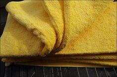 GANZ in Gelb, mein neues Handtuchset von Zollner24 prsample