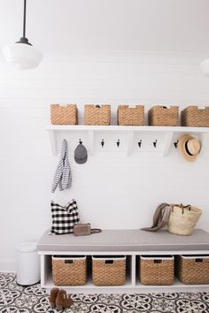 Mudroom ideas for different spaces! Get ideas for how to design a mudroom for small spaces, laundry rooms, hallways, and more. Laundry Room Organization, Laundry Room Design, Laundry Rooms, Small Laundry, Mud Rooms, Laundry Hamper, Laundry Decor, Laundry Closet, Bench With Storage