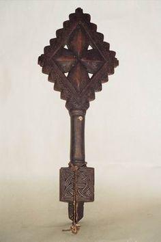 Hand cross   Early 20th century   Sidamo people, Ethiopia   Wood