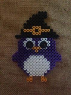 Halloween owl perler beads