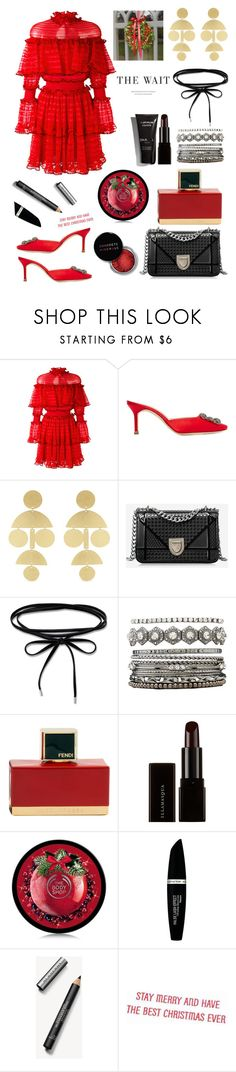 """The Wait"" by felicitysparks ❤ liked on Polyvore featuring Alexander McQueen, Manolo Blahnik, Annie Costello Brown, Charlotte Russe, Fendi, Concrete Minerals, Illamasqua, Max Factor and Burberry"