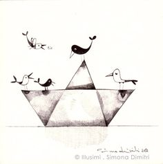 the birds and the paper boat by illusimi, via Flickr