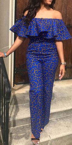 Anziehsachen Print Geometric Fashion Loose Straight Jumpsuit Write Wedding Vows That Sound Natural I African Dresses Plus Size, African Dresses For Kids, African Fashion Ankara, Latest African Fashion Dresses, African Dresses For Women, African Print Dresses, African Print Fashion, African Attire, Fashion Prints