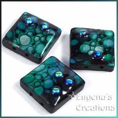 Polymer clay that looks like lampwork -- tutorial by artist 'Eugena Topina - Eugena's Creations' $10 #PolymerClayJewelry