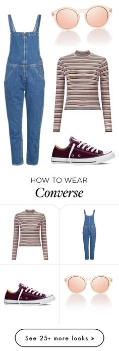 """Teen"" by alexhunter374 on Polyvore featuring M.i.h Jeans, Le Specs, Miss Selfridge and Converse"