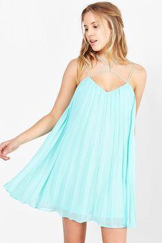Kimchi Blue Strappy-Neck Trapeze Dress