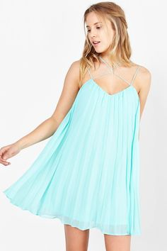 Kimchi Blue Strappy-Neck Trapeze Dress