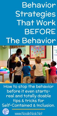 Need tools to calm a student with Autism down before bad behaviors start? Here is a list of behavior strategies that work BEFORE the behavior!