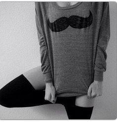 High knees socks + comfy sweater = love