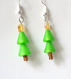 Polaris-Tannenbaum-Ohrhänger hellgrün