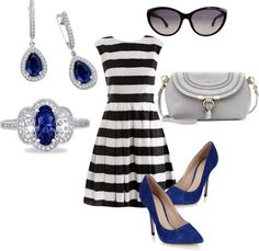 My kind of blues by lafonnjewelry featuring sapphire jewelry