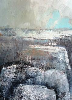 White rock, Marjan Nagtegaal Nature Paintings, Landscape Paintings, Landscapes, Abstract Nature, Abstract Art, Mixed Media Collage, Monet, Rocks, Drawings