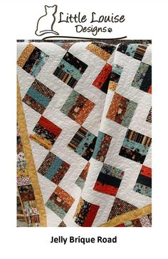 25% Off Coupon Code - Easy - Jelly Brique Road Quilt Pattern - Jelly Roll  pattern - Baby to King Size - PDF INSTANT DOWNLOAD -
