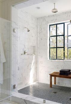 Duschrum med fönster
