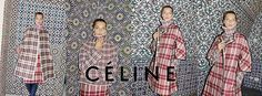 Juergen Teller for Celine FW13. Daria? Check. Tiles to make plaid pop? Check. Brilliant.
