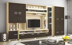 Tv Unit Decor, Tv Wall Decor, Tv Wall Design, Tv Unit Design, Living Room Tv, Small Living Rooms, Tv Cupboard Design, Space Saving Dining Table, Country Home Exteriors