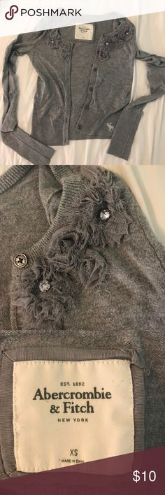 ABERCROMBIE&FITCH CARDIGAN Grey shirt cardigan/sweater (not sure what to call this item). In great condition with nice detailing around the neck Abercrombie & Fitch Tops
