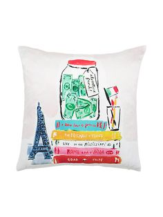 for beds, for sofas, for extra-cozy nooks: in our world, there's no such thing as too many pillows--like this sweetly illustrated style that reminds you to dream big and adventure every day (from ridi